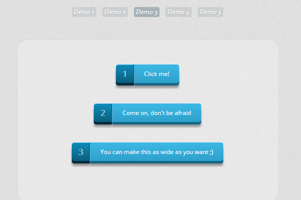 CSS3 Psuedo Buttons