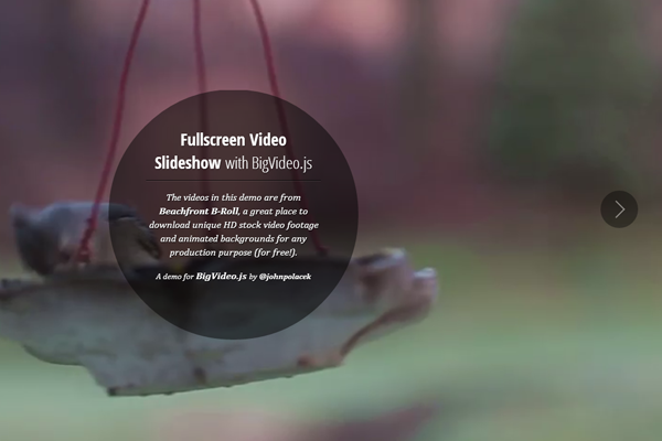 Fullscreen Video with BigVideo.js