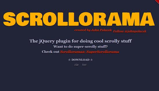 六款能实现视差滚动效果的jQuery插件
